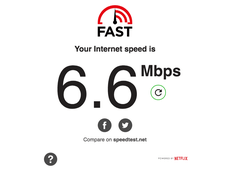 I've seen 98 Mbps with my iPhone on this network. Not so much today.